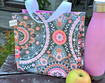 Insulated Lunch Bag, Lunch Bag for Women/Girls, Lunch Tote for Work/School, Tote Style Lunch Bag, Waterproof, Eco-friendly, Reusable