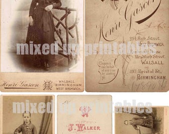Mixed Up Printables - Cabinet Cards - Maggie and Maud