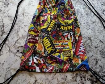Superheroes Drawstring Backpack