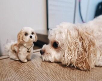 custom pet portrait felt dog portrait maltese dog lover gifts for pet owners dog mom maltese statues memorial pet loss gifts statues maltese