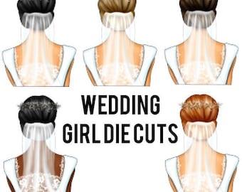 Wedding Girl Die Cuts | Elle doll, fashion girl, bride