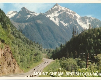 Vintage 1980s Postcard Fraser Valley British Columbia BC Canada Mount Cheam Chilliwack Hope Scenic View Photochrome Postally Unused