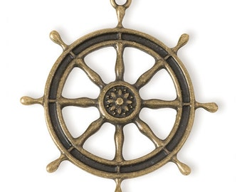 Ship's Wheel Pendant (STEAM125)