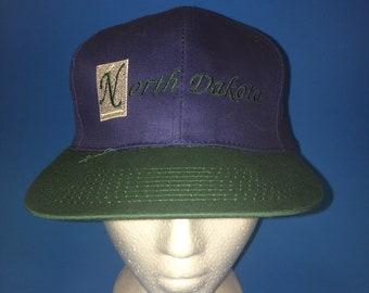 Vintage North Dakota SnapBack Hat Adjustable 1990s