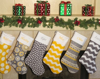 CHRISTMAS STOCKINGS * Unique Designer Stockings * All Christmas Stockings Include Personalized Embroidery *