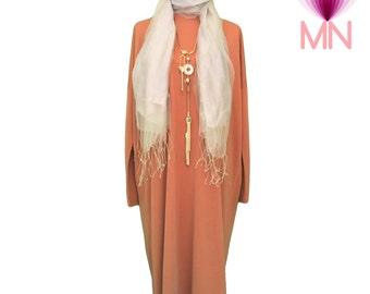Flowing Knit Modal Jersey Tunic Dress