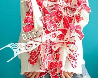 BadPoem/red bowknot handmade jacket