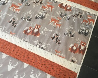 Quilt Handmade to order patchwork Hello Bear Fabric by Art Gallery ideal for baby's bed / cot matching items available