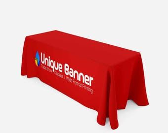Table Throw, Full Color Custom Print, Trade Show, 8ft (Closed Back)