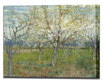 Van Gogh Pink Orchard Canvas Print Canvas Art Wall Decor Vincent Van Gogh Interior Design Impressionism Ready to Hang Wall Decor