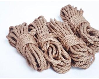 BDSM Rope 4x26ft 6mm, Shibari rope bondage, shibari rope bondage kit, Rope 8m Jute, kinbaku, shibari rope, bondage rope, bdsm bondage play