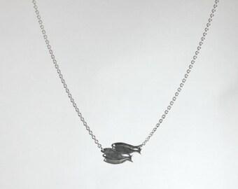 Pendant shoal aluminum on stainless steel chain