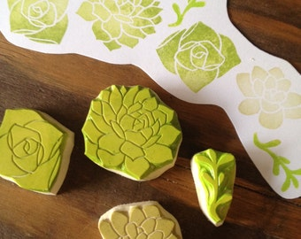 Succulents Rubber Stamp Set