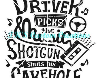 Driver Picks The Music Shotgun Shuts His Cakehold