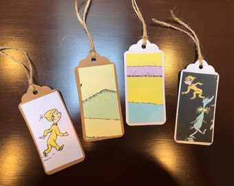 Oh The Places You'll Go by Dr. Seuss gift tags, great for baby showers, graduation gifts or parties made from a recycled book