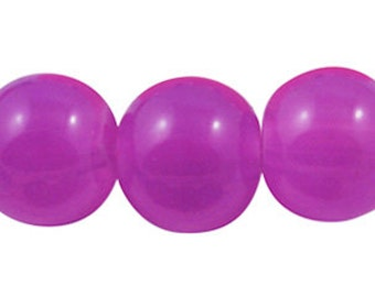 8mm Orchid Glass Beads - 1 full strand