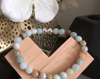 Amazonite Faceted Natural Stone Bracelet