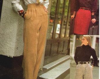 SZ 14/16/18 - Vogue 90s Separates Pattern 8234 - Misses' Raised Waist Skirt, Pleated Pants or Walking Shorts - Vogue Sport Pattern