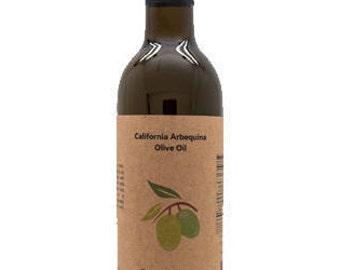 California Arbequina Olive Oil, 12.6 oz Bottle.