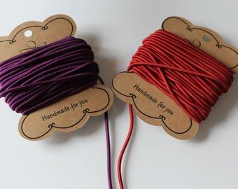 1 m cord elastic Burgundy / Purple 2 mm