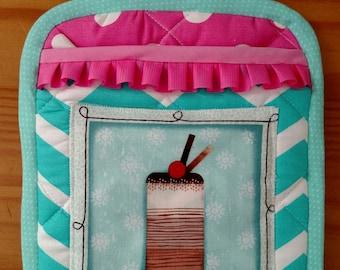 Potholder- Aqua & Pink- Sweet Thing Collection