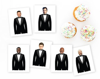 Who Has the Groom? - INSTANT DOWNLOAD - 40 Celebrity Cards + Blanks - Bridal Shower Party Game, Bachelorette Party Game