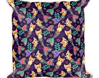 Merkitty Square Pillow- Purple