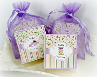 Tea Party Favors, Birthday party favors, baby shower favors,  girl party favors, soap favors