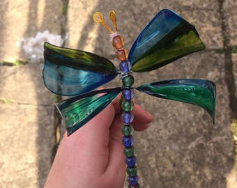 Moss - Dragonfly Creature Feature - Handmade Dragonfly Bouquet or Ceiling Ornament