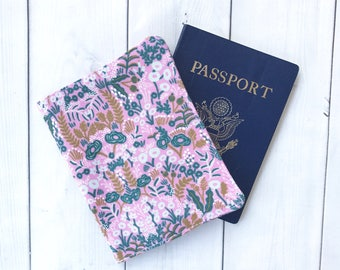 Passport Cover Passport Case Travel Wallet Floral Passport Holder Wanderlust Rifle Paper Co Gift For Her Travel Gift Gift Under 10