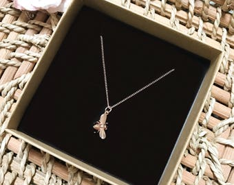 Bumble Bee Necklace ~ Silver/Gold/RoseGold