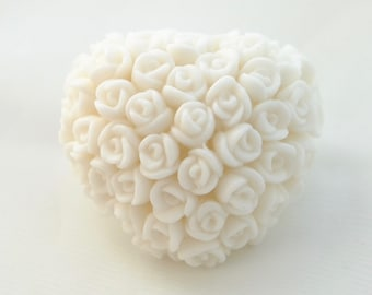 Wedding Favour Soaps 12 Winter Heart of Roses