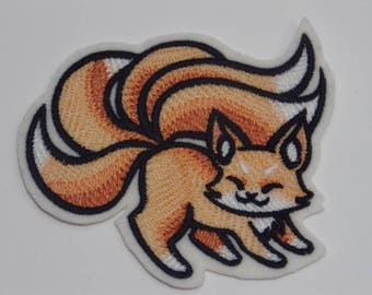 Fantasy Iron-On Patch. Embroidered Patch. Sew-on Patch. Glue-on Patch. Kitsune Patch