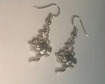 """NEW """"Time for Tea"""" Teapot Earrings with sterling silver findings"""