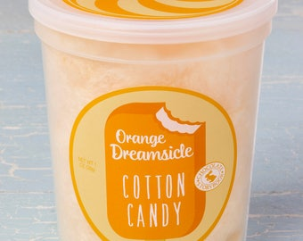 Orange Dreamsicle Cotton Candy