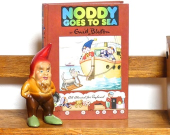 "Vintage Mid Century Hardcover Children's Book -""Noddy Goes to Sea"" - Noddy Book No.18"
