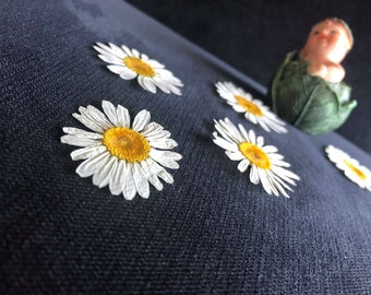 Daisy flower, Dried flowers, Pressed daisy flower, Dried daisy flower , Real pressed flowers, Craft Supply, natural white flowers for crafts