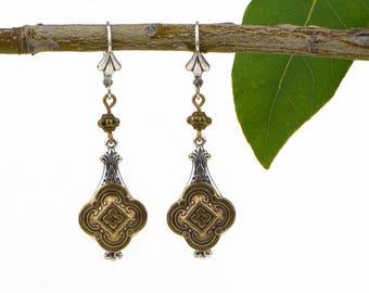 Women's Bohemian Earrings, Mixed Metal Jewelry, Moroccan Earrings, Moroccan Jewelry, Gift Earrings For Wife, Sister, Mom, or Best Friend
