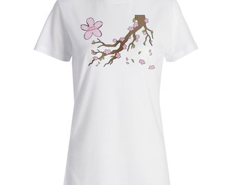 Cherry Blossom Tree Ladies T-shirt p189f