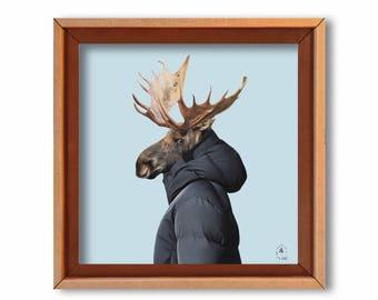 "Art print ""Le frère de M. Snow"" Cardboard art print"