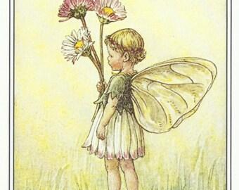 Daisy Fairy by Cicely Mary Barker Flower Fairies Vintage Print 1995 Wall Art Nursery Decor Fairy Print Home Decor Print Fine Art