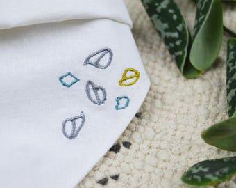baby bib, drib, embroidered bib, gift, baby accessory, hand made, bairns drib collection, bairns babywear, bairns