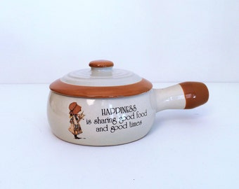Holly Hobbie Country Living Crock with lid