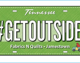 Row by Row Experience 2017 Fabric License Plate-#getoutside-RxR