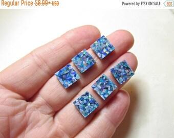 SALE Cabochon Australian Opal Square Cushion 10mm   Mosaic  Opal Triplet Cabochons,