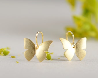 Pendientes pequeños mariposa, pendientes de plata mariposas