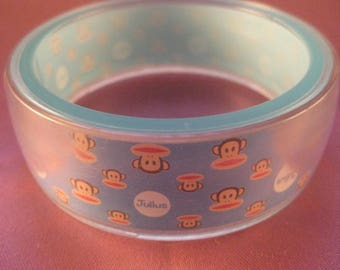 Recycled Paul Frank Julius Monkey Young Girls or Small Ladies Cuff Bnagle Bracelet [KB09]