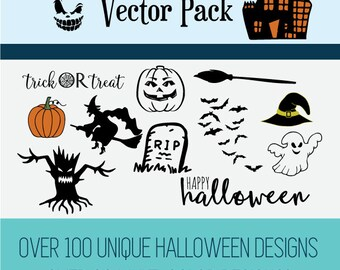 Instant Download - Halloween Vector Pack! SVG, DXF, EPS and more!