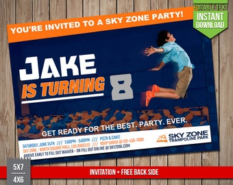 DAVE BUSTERS Invitation Dave and Busters Invite Editable