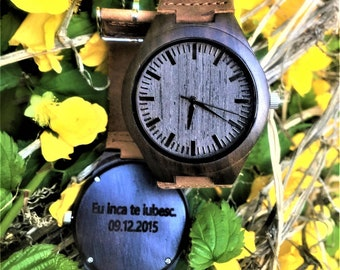 Engraved Wood Watch. Personalized Watch. Wedding Gift. Groomsmen Gift.